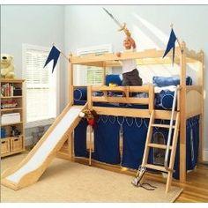 Maxtrix Kids Maxtrix Bedroom Series Twin Castle Bed with Slide Bedroom Set