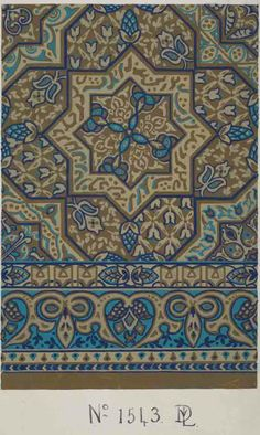 Stoddard-Templeton Design: Assorted Persian and Bordered Squares (STOD/DES/111/45F)  Design sketch: Untitled design (1880-1975) http://www.flickr.com/photos/uofglibrary/7179648029/in/set-72157625472336767