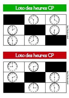 Voici deux lotos des heures pour le CP et le CE1. Objectifs : Lire l'heure sur une horloge ou une montre à aiguilles : heures entières et demi-heures Lire l'heure sur une horloge ou une montre à aiguilles : heures entières, demi-heures et quarts d'heure... Core French, English Games, Do You Work, School S, School Ideas, Business For Kids, Fractions, Voici, Language