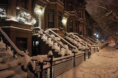 Snowy Night, Brooklyn, New York