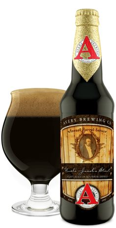 """Uncle Jacob's Stout - a """"robust, silky smooth, full-bodied and altogether extremely American rendition of an Imperial Stout aged for 6 months in the very finest Bourbon barrels."""" Avery Brewing, Boulder CO (12oz 17.1(!)%) May 2016"""