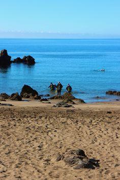 Einstieg für Taucher am Playa Chica, Puerto del Carmen, Lanzarote