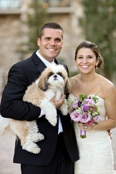 Bride and Groom With Dog in Wedding | photography by http://www.peppernix.com