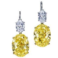 Diamanti oro bianco e citrino..
