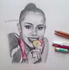 Margarita Mamun (Russia) by GymnasticsDrawing