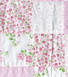Fashion Cotton Fabric Patchwork Eyelet Pink Cotton