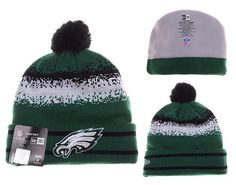 Mens   Womens Philadelphia Eagles New Era NFL On-Field Team Colors Fashion  Spec Blend Knit Beanie Hat With Pom - Green   Black bb26b0459