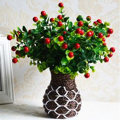 Plantas Artificiales verdes Fake Floral de Flores de Seda de Plástico Planta de Flores de Eucalipto Oficina Hotel Mesa Decoración de Césped Artificial