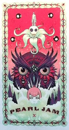 Pearl Jam Manchester 2012 poster