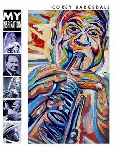 Sidney Bechet Art Jazz Painting