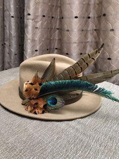 c92d93a0287 £65.00 (BIN) FPP Mackenzie And George Wool Fedora Hat Pheasant Peacock  Feather Pin