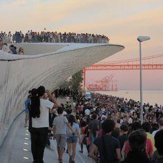 #maat #museum #lisboa #inauguration #portugal #instagood #people #river #tejo #sunset