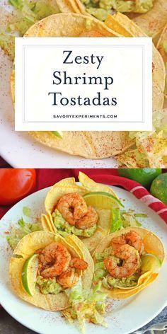 New recipes easy vegetarian sour cream 25 Ideas Shrimp Recipes, Fish Recipes, Mexican Food Recipes, New Recipes, Vegetarian Recipes, Chicken Recipes, Cooking Recipes, Healthy Recipes, Tostada Recipes