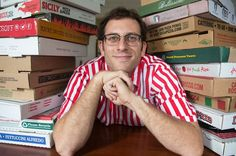 A man who broke record in collecting different pizza boxes from across the world Pizza Boxes, Weird News, Different, Couple Photos, World, Collection, Places, Couple Shots, Couple Photography