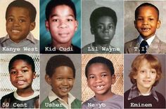 All of these look like my little brother. Including Eminem.