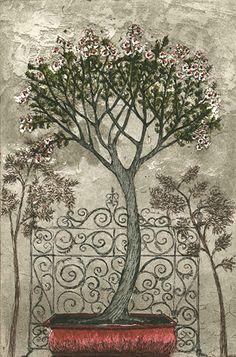 Kirsi Neuvonen, Puiston portti / Travelogues A Park Gate Finland Female Painters, 2d Art, Water Lilies, Printmaking, Illustrators, Modern Art, Graphic Art, Illustration Art, Bloom
