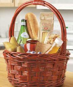 hostess gifts: breakfast basket - homemade banana bread, butter