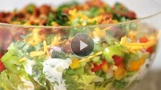 Watch Easy, Healthy Seven-Layer Salad Recipe in the EatingWell Video