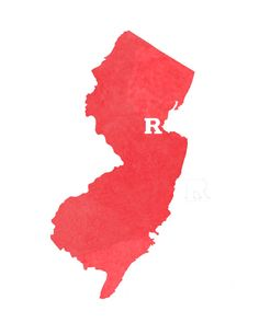 Rutgers New Brunswick & New Jersey Watercolor Print by Paperbagels