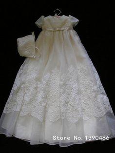 Cheap Glamorous muchacha del bautizo del bebé vestidos blancos de Tulle Appliques del cordón de marfil bautismo del Vestido Vestido Bebe ropa del cabrito por encargo KV 97, Compro Calidad Vestidos directamente de los surtidores de China: Bienvenido a nuestra tienda  Somos una vestidos por enca