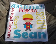 Superhero Baby Blanket Superhero Receiving by TheDreamyDaisy Soft Baby Blankets, Receiving Blankets, Swaddle Blanket, Baby Girl Photos, Personalized Baby Blankets, Subway Art, Knot Headband, Photo Props