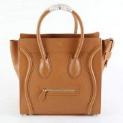 Celine Leather Luggage Bags In Light Coffee