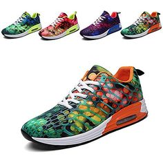 Wonvatu Women Men Breathable Fashion Running Shoes Comfor...