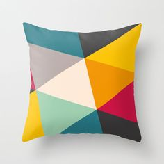 Geometric Throw Pillow Cover Modern Color by TheMotivatedType, $34.00