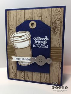 Stampin' Up!, Mojo 332, Perfect Blend, Teeny Tiny Wishes, Hardwood Background, Woodgrain Embossing Folder, 1/2 Circle Punch, White Stampin' Emboss Powder, Basic Metal Buttons