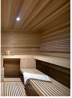 Beautiful blonde modern sauna inside a Ski Chalet by Atelier Kastelic Buffey Modern Saunas, Modern Contemporary, Sauna Steam Room, Sauna Room, Steam Bath, Sauna Hammam, Spa Interior, Interior Design, Home Decor