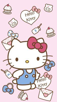 ~Katarina~wallpaper hello kitty by Katarina Hello Kitty Tattoos, Hello Kitty Art, Hello Kitty Themes, Hello Kitty Birthday, Sanrio Hello Kitty, Hello Kitty Iphone Wallpaper, Sanrio Wallpaper, Kawaii Wallpaper, Cellphone Wallpaper