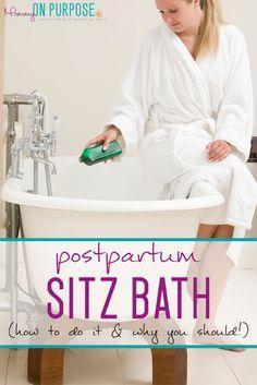 how to take a postpartum sitz bath / benefits of a postpartum sitz bath