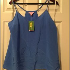 NWT Lilly Pulitzer Dusk top Bay Blue size large. New with tags Lilly Pulitzer Dusk top. Color is Bay Blue. Size large. Lilly Pulitzer Tops Camisoles