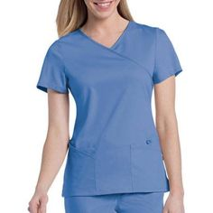 Urbane by Landau Women's Sophie Crossover Scrub Tunic Top