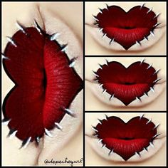 Amazing Lip Art For Halloween halloweentip Artist Makeup, Fx Makeup, Makeup Artists, Makeup Salon, Makeup Studio, Airbrush Makeup, Makeup Ideas, Lipstick Art, Lip Art