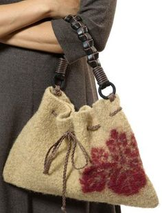 felted bag , cute