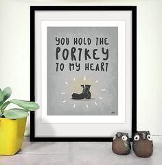 Printable Art Portkey Love Harry Potter Inspired on Etsy, $5.00