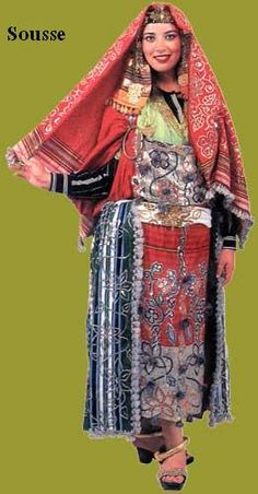 Traditional costume of Sousse, Tunisia