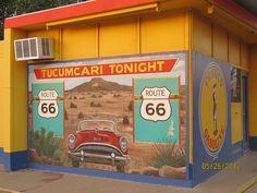 Tucumcari, NM Blue Swallow Motel Route 66 by Jeanne Kasten