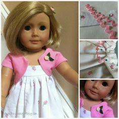 30 Minute Doll Dress THE RIC RAC IS USED AS STRAPS SEWN INTO THE FACING