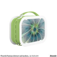 Flourish Fantasy abstract and modern Fractal Art Lunch Box
