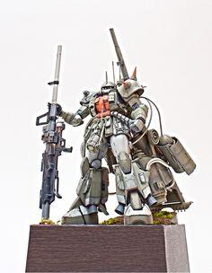[Modelers-G] MG MS-06 Zaku II Anti Aircraft #gundam #gunpla #bandai