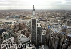 A general view of the Shard building taken from the Gerkin, London.