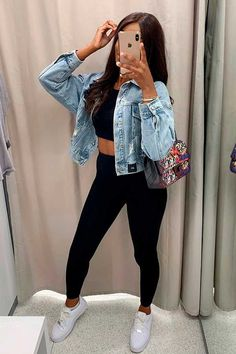 Teen Fashion Outfits, Mode Outfits, Look Legging, Mode Ulzzang, Korean Girl Fashion, Cute Casual Outfits, Everyday Outfits, Clothes, Ootd