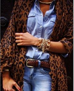 Denim & Leopard for Fall