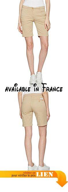 B01N2WHXEE : GANT Twill Short Femme Beige (Dry Sand 277) 40 W. #Apparel #SHORTS