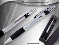 TINTON ist ein hochwertiger und dennoch preiswerter Kugelschreiber aus Metall ab 1,45 €. Werbanbringung mittels edler schwarzer Lasergravur. #kugelschreiber mit gravur #metallkugelschreiber