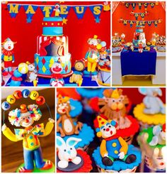 Circus Party Carnival Kids Birthday Party Theme Clowns Boys Girls Red Blue Yellow