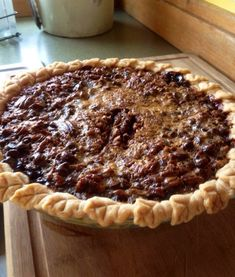 My Food Network Star friend Emily Ellyn's sister Molly sent me this photo of my Chocolate Bourbon Pecan Pie after she made the recipe. Molly raved about it... and this family knows food and knows how to cook! Yay!
