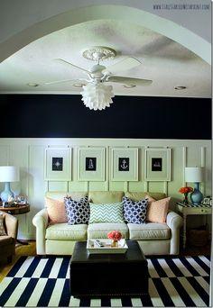 navy-white-living-room-board-batten-reveal-ceiing-fan-lamps-plus